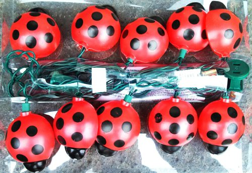 Today Sale Lady Bug Christmas String Lights - Indoor / Outdoor  Best Offer