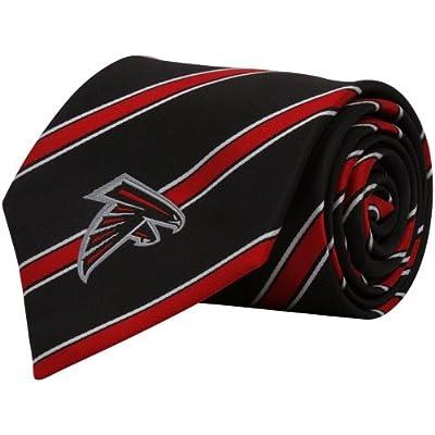 NFL Atlanta Falcons Black Striped Woven Tie