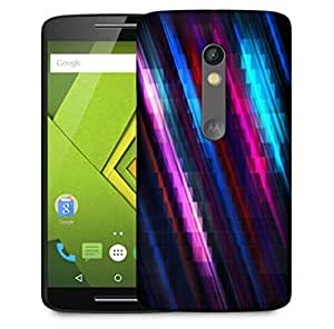 Snoogg Squares And Lines Designer Protective Phone Back Case Cover For Motorola Moto X Play