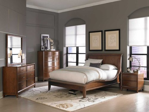 Kasler 5 Pc Eastern King Bedroom Set With Chest By Homelegance In Medium Walnut front-965382