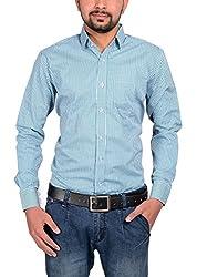 Riwas Collection Men's Formal Shirt (r-111_Green_X-Large)