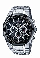 Casio Edifice Tachymeter Chronograph Black Dial Men's Watch - EF-540D-1AVDF (ED371)