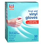 Rite Aid Gloves, Vinyl Medical, One Size Fits Most, 50 ea