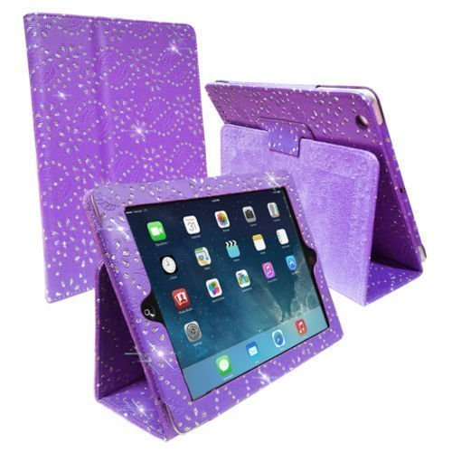 Connect ZONE ® SAMSUNG GALAXY TAB 2 10.1 P5100 VIOLETT PURPLE CRYSTAL DIAMOND BLING CASE/SCHUTZHÜLLE, PU-LEDER, MAGNETISCH