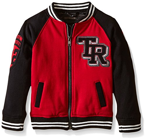 Little Boys Varsity Jacket Chili Pepper Red 2T