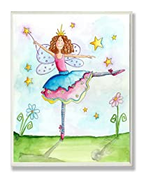 The Kids Room by Stupell Twinkle Toes Ballerina Fairy Rectangle Wall Plaque