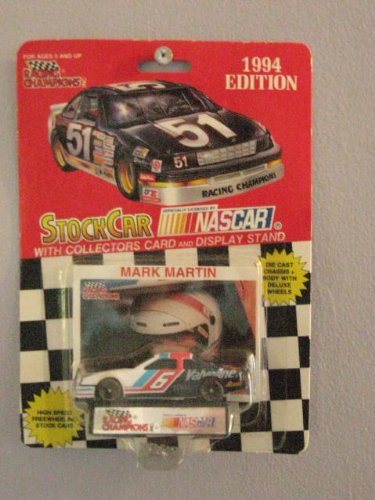 Racing Champions Mark Martin #6 1994 Edition Stock Car Series 1/64 scale diecast with collectors card