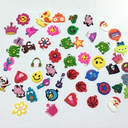 2 Pack of Charms for Rubberband Loom Bracelets 12pcs
