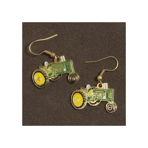 Amazon.com - John Deere Tractor Earrings - Dangle Earrings