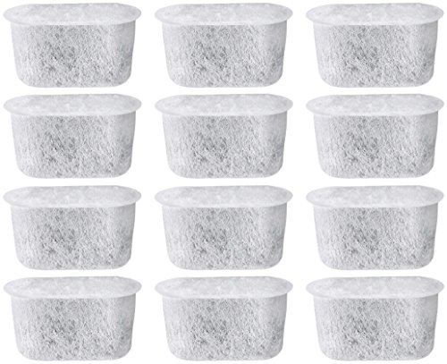 NISPIRA 12 Activated Charcoal Water Filters Replacement for Cuisinart Coffee Machine Part DCC-RWF