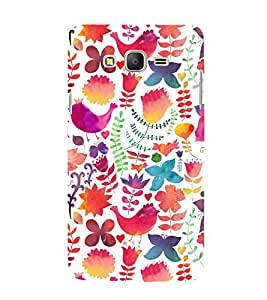 Birds and Flower 3D Hard Polycarbonate Designer Back Case Cover for Samsung Galaxy On5 :: Samsung Galaxy On 5 Pro