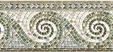 Textured Wave Mosaic Gold Green Blue Wallpaper Border