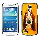 Slim Design Hard PCAluminum Shell Case Cover for Samsung Galaxy S4 Mini i9190 MINI VERSION Basset Hound  Pendant Ear Dog JUSTGO PHONE PROTECTOR