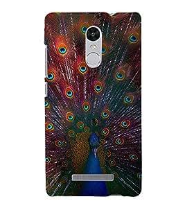 Beautiful Peacock 3D Hard Polycarbonate Designer Back Case Cover for Xiaomi Redmi Note 3 :: Xiaomi Redmi Note 3 (3rd Gen)