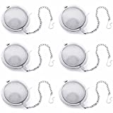[6 PACK] Stainless Steel Mesh Tea Balls - FDA Approved High-Quality Stainless Steel - Durable and Rust Resistant