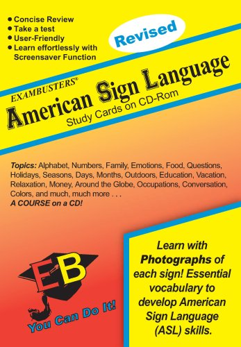 American Sign Language Exambusters CD-ROM Study Cards: Exam Prep Software on CD-ROM