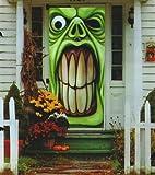 Halloween Haunted House Green Goblin Door Cover
