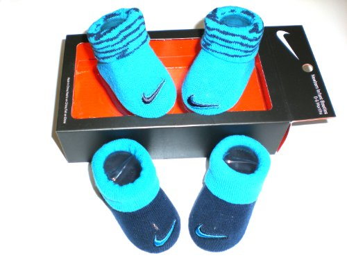 Nike Newborn Baby Booties Blue , Size 0-6 Months