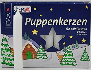 German Pyramid Taper Candles - Set of 20 from Jekz