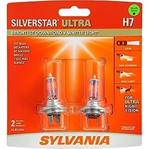 Sylvania H7 SilverStar Ultra Halogen Headlight Bulb, (Pack of 2)