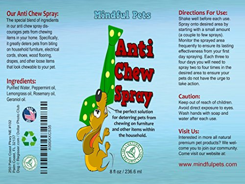 Anti Dog Chew Bitter Spray Stop Dog Chewing Now