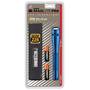 Mag-Lite SP2P11H Mini Mag Pro Lampe de Poche LED Métal Bleu 17 cm