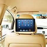 TFY Car Headrest Mount Holder for iPad Mini & iPad Mini 2, Fast-Attach Fast-Release Edition, Beige