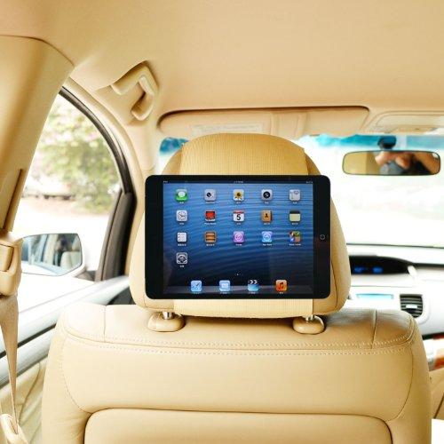Tfy Car Headrest Mount Holder For Ipad Mini & Ipad Mini 2, Fast-Attach Fast-Release Edition, Beige front-553403
