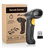 BLUEHRESY CT007X (2.4GHz Wireless USB Automatic & USB2.0 Wired) Rechargeable 1D Barcode Scanner Handheld Bar-code Reader Support for Fedex ad USPS Maximum Offline 2600 Code Entrie s