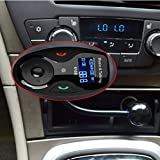 VicTsing® Univeral LCD Display Bluetooth Wireless Car MP3 FM Transmitter Modulator Radio Adapter Handsfree Car Kit with Hands-Free Calling, Music Control, Mic, and Charging Port for iPhone 6 iPhone 6 Plus iPhone 5S 5 5C 4S 4 iPod, Android Smart Cell phone, MP3 Players and Other Devices