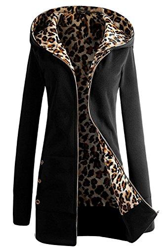 Minetom-Femme-Lopard-Hoodie-Sweat-Top-Pull-Shirt-Manteau-Veste-Blouson-Avec-Capuche-Automne-Vtements-dextrieur