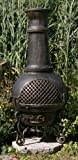 The-Blue-Rooster-Gatsby-Chiminea-with-Gas-in-Gold-Accent
