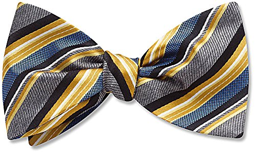 The Lemonfair, Yellow Striped bow tie, by Beau Ties Ltd of Vermont