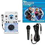 The Singing Machine SML-385W Disco Light Karaoke System (White) with Disney's Frozen Karaoke CD, and Extra Microphone