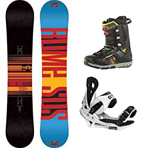 Buy 2014 Rome Tour Mens Snowboard Package with Camp Seven Summit Bindings and Rome Libertine LNP Boots by Rome