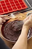 Lekue 24 Cavity Mini Brownie Mold Pan, Model # 0216024R01M017, Red