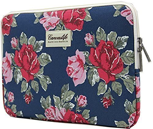 03. Canvaslife Flower Patten Laptop Sleeve 17 Inch and 17.3 Inch Laptop Case Bag