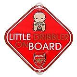 Arsenal FC アーセナル 2014-15モデル メタル セーフティーサイン / リトルドリブラーオンボード 赤ちゃんが乗ってます。 自動車用品 カーアクセサリー