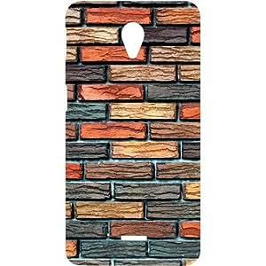 Casotec Brick Wall Design Hard Back Case Cover for Micromax Canvas Unite 2 A106