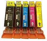 Canon CLI526, PGI525, WITH CHIP for Cannon Pixma MG8150 - Multipack 1 Set of 5 Canon Compatible Printer Ink Cartridges CANON PIXMA iP4850, MG5150, MG5250, MG6150, MG8150, MX885, IX6550 Printer Inks - (Contains: 1x PGI-525BK, 1x CLI-526BK, 1x CLI-526C, 1x