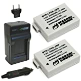 Wasabi Power Battery 2-Pack and Charger for Canon LP-E8 and Canon EOS 550D, EOS 600D, EOS Rebel T2i, EOS Rebel T3i, EOS Rebel T4i