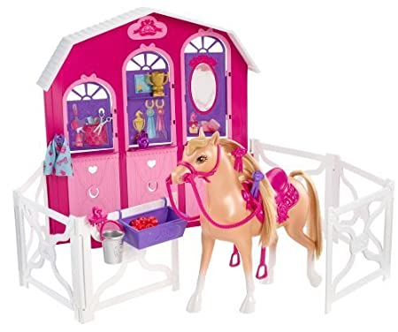Barbie and Her Sisters in a Pony Tale Stable Playset by Mattel TOY (English Manual)