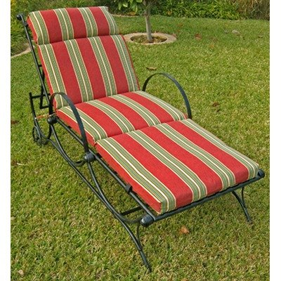 Single Chaise Lounge Cushion Color: Haliwall Caribbean image
