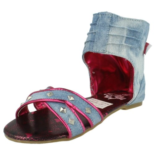 Hello Kitty, Sandali bambine, Blu (Blu denim), 2 UK