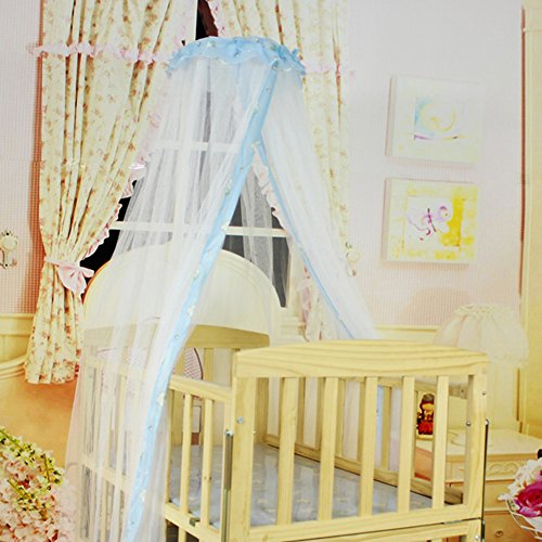 2013Newestseller 64'' Babies Infant Bed Canopy Mosquito Net Crib Mosquito (Blue) back-1064832