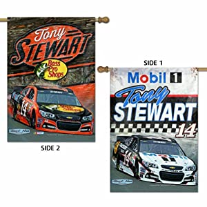 Tony Stewart 14 Flag 28 x 40 Double Sided Banner by WinCraft
