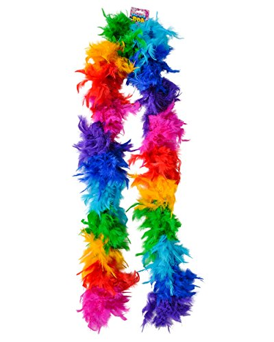 "Deluxe 6' Rainbow Pride Parade 72"" Costume Feather Boa"