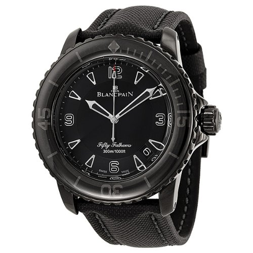 blancpain-fifty-fathoms-black-dial-black-pvd-stainless-steel-fabric-automatic-mens-watch-5015-11c30-