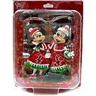 【東京ディズニーランド 2012 「クリスマス・ファンタジー」 ミッキー & ミニー ペア フィギュアリン】 TDL Christmas Mickey & Minnie Figurine