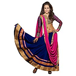Aagaman Fashion Faux Georgette Lehenga Cholis (TSWT103_Blue)
